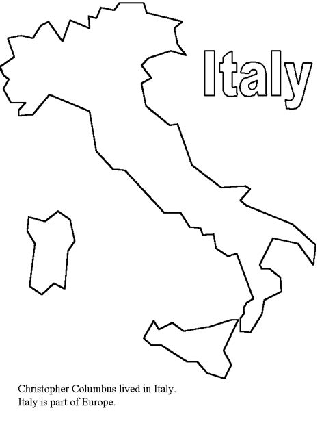 map of italy for kids coloring home