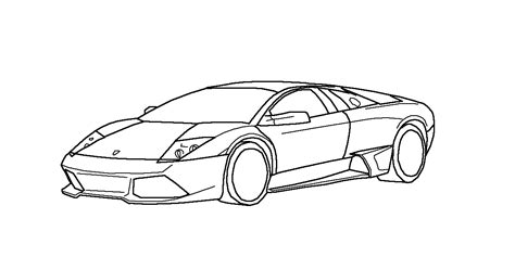 Lamborghini Outline Lambo Murcielago Lp640 Lineart By Jaslo On Deviantart