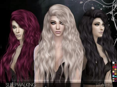 vanity female hair by stealthic at tsr sims 4 updates stealthic sleepwalking hair for females sims 4 custom