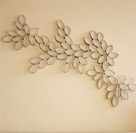 Paper Crafts For Wall Decor - toilet paper roll wall allfreeholidaycrafts