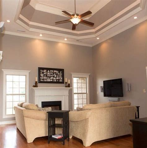 What Color To Paint Living Room by Walls Painted Taupe By Behr Paint Colors