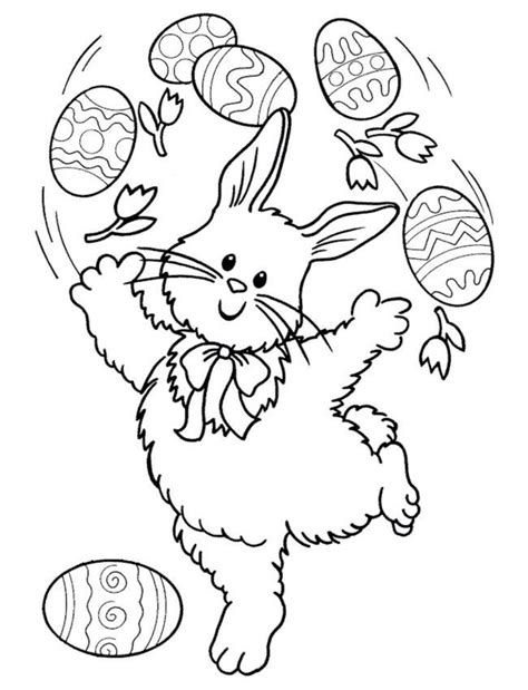 Easter Bunny Coloring Pages Coloring Town Easter Bunny Coloring Page