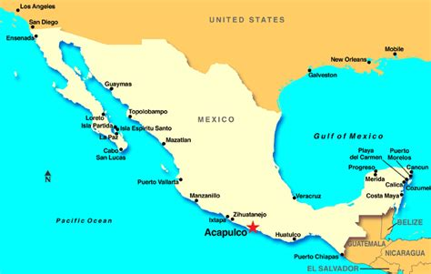 map of mexico acapulco acapulco mexico discount cruises last minute cruises