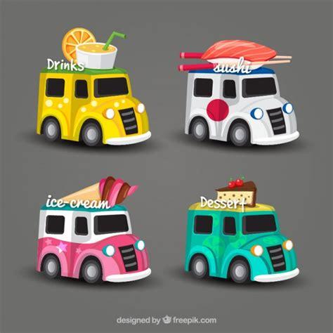 food truck design vector 4 different food truck design vector free download