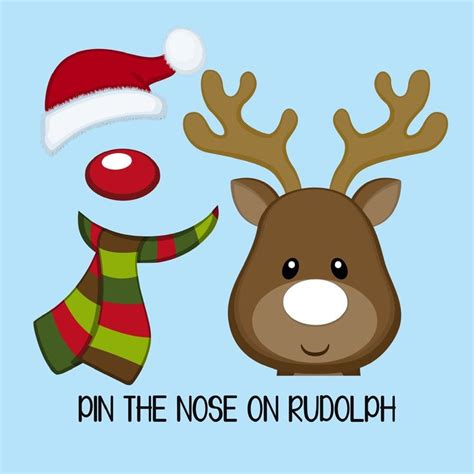 instant download quot pin the nose on rudolph quot game set for a