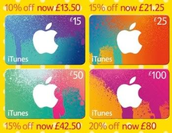 Tesco Itunes Gift Card Offers - get up to 20 off itunes gift cards at tesco