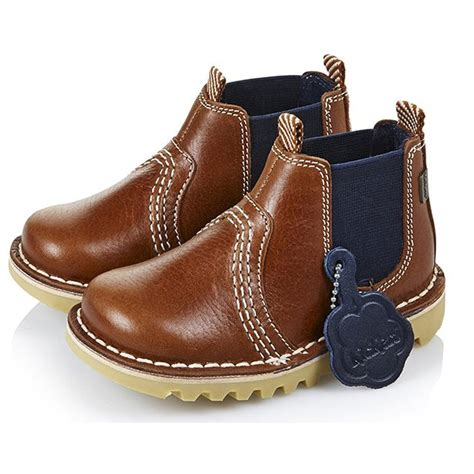 new model kickers boot kickers kick chelsea boot infant blue 13533 the