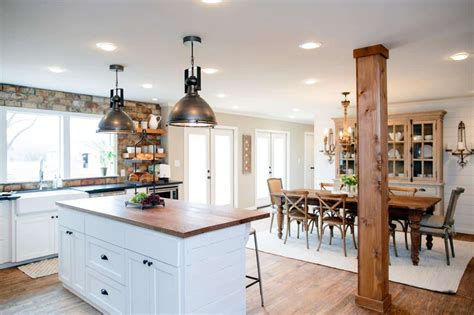 kitchen island dining fixer kitchens living and dining rooms 21 favorites