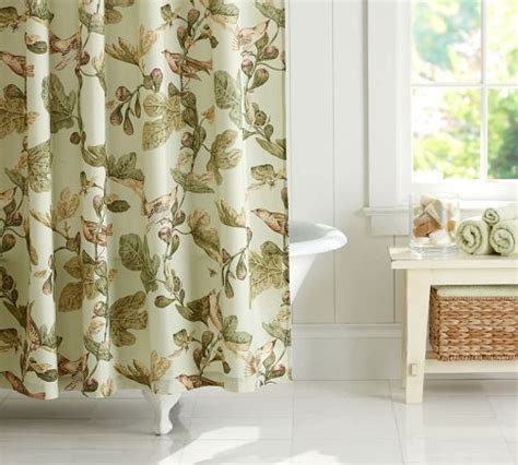 pottery barn kitchen curtains bird fig organic shower curtain pottery barn for the