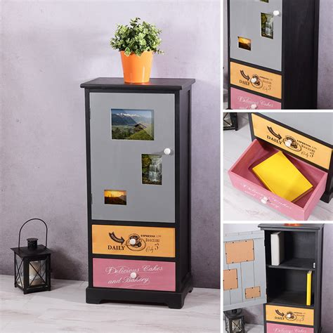 kommode mit vitrine kommode mit schubf 228 chern flurschrank wohnzimmer