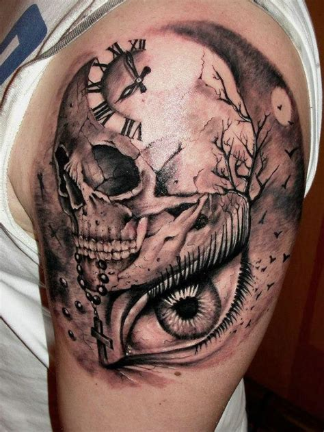 skull sleeve tattoo designs for men 51 skull tattoos for and inspirationseek