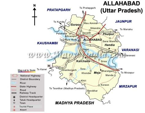 map of allahabad city allahabad maps tourist attractions in india
