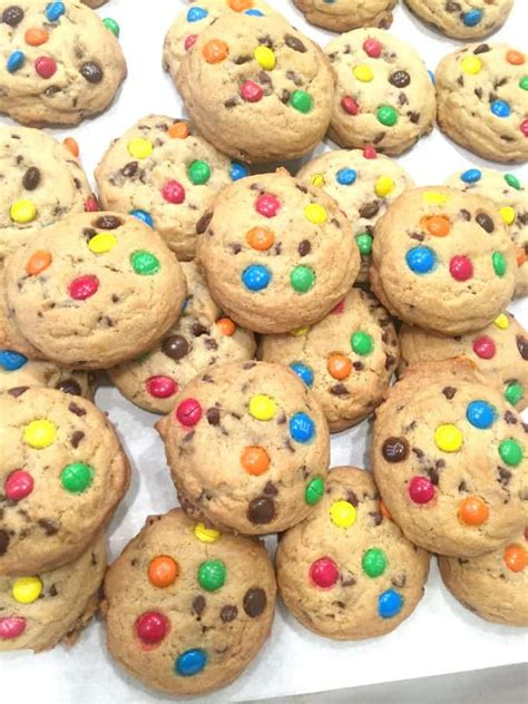 colorful cookies m m chocolate chip cookies created by diane
