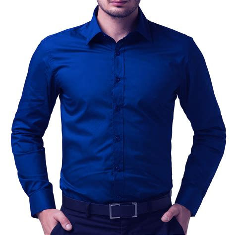 Buy Shirts Buy Being Fab Royal Blue Cotton Regular Fit Sleeve