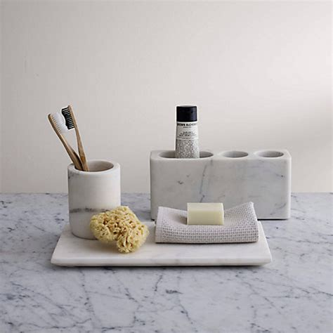 bathroom accessories buy lewis white marble bathroom accessories tray