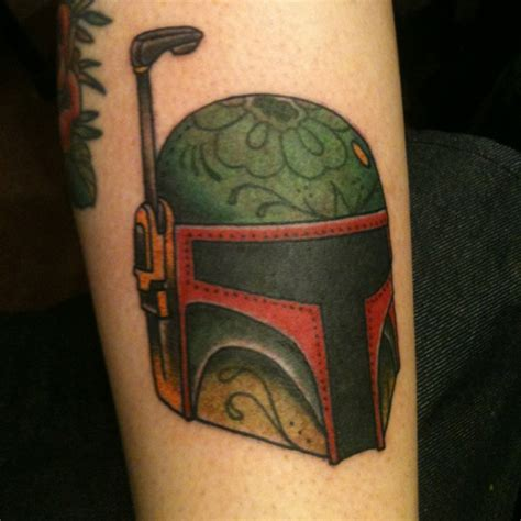 boba fett tattoos this is my own boba fett day of the dead style i