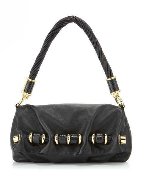 Michael Kors Shoulder Flap Bag by Michael Kors Tonne Shoulder Flap Bag In Black Lyst