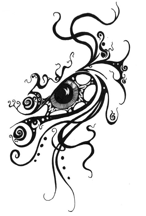 tattoo swirls swirl eye design