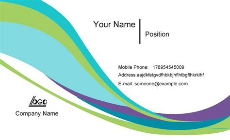 Business Calling Card Template Free