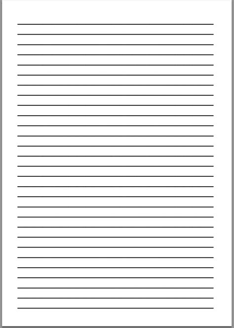 Size Of Writing Paper Size Of Letter Paper Template Resumeguide Org