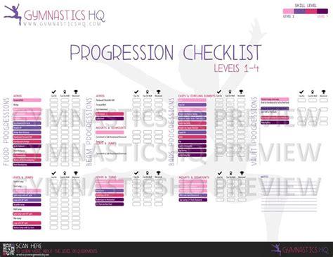gymnastics skill progression checklist gymnastics