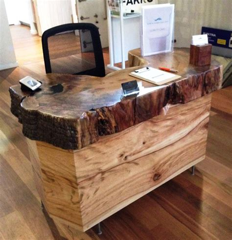Live Edge Desk Timber Reception Desks Time 4 Timber