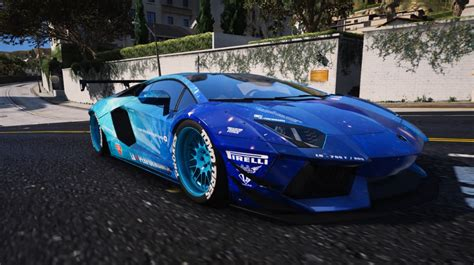 galaxy lamborghini liberty walk blue galaxy for lamborghini aventador gta5