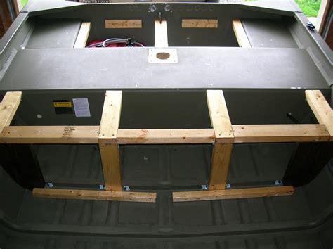 jon boat livewell jon boat modification support braces rear deck livewell