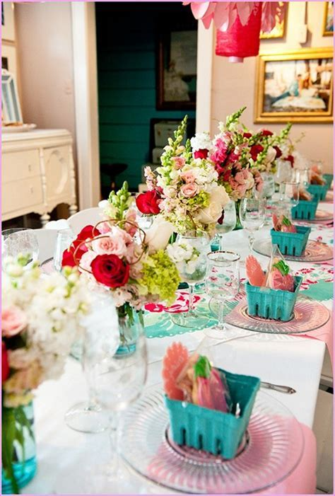 Wedding Shower Table Decorations Ideas