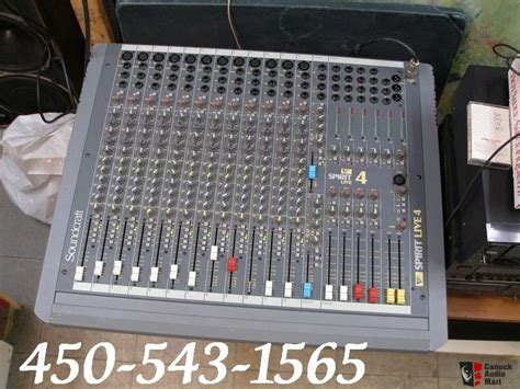 Mixer Spirit Live 4 Bekas soundcraft spirit live 4 mixer 12 input photo 126317 canuck audio mart