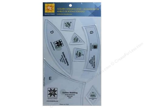 wedding ring template ez quilting golden wedding ring acrylic template set