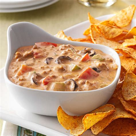 hearty taco dip recipe taste of home