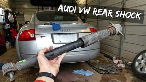 how to remove rear shock on a 2008 aston martin dbs audi vw rear strut removal replacement audi tt youtube