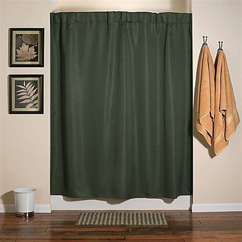 emerald green shower curtain buy infinity shower curtain emerald green from bed bath