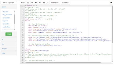 angularjs template an angularjs template bootzee