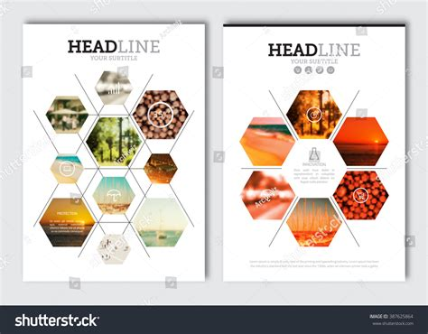 magazine design elements vector business brochure design template vector flyer stock