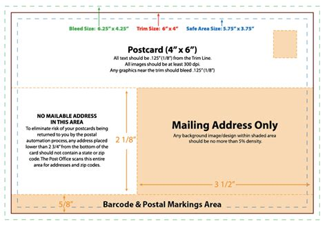 Pin Usps Postcard Template On Pinterest 4x6 Postcard Mailing Template