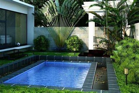 10 desain kolam renang minimalis kecil pada rumah pribadi