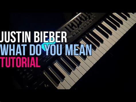 tutorial gitar what do you mean how to play justin bieber what do you mean piano