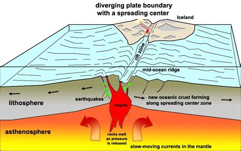 Which Boundaries Is Sea Floor Created - divergent plate boundaries 8th grade science