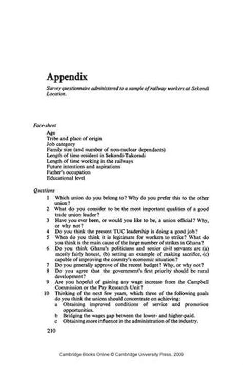 dissertation appendix exle dissertation appendix exle 28 images masters thesis