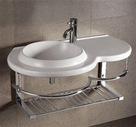 Half Vanity Sink Towel Bar With Shelf Wall Mount Bathroom Vanity Half Wall