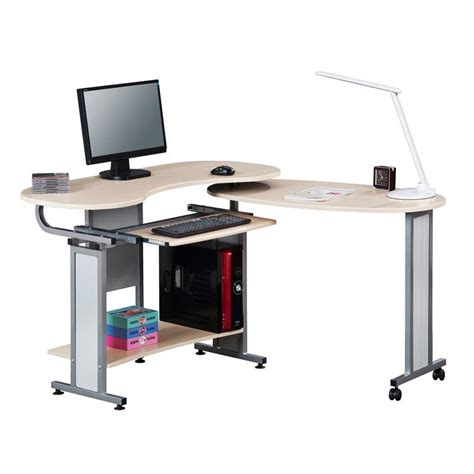 folding computer desk pc workstation office desk maple s