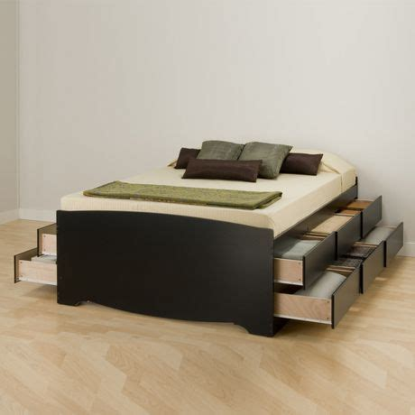 tall queen platform storage bed with 12 drawers prepac tall queen captain s platform storage bed with 12