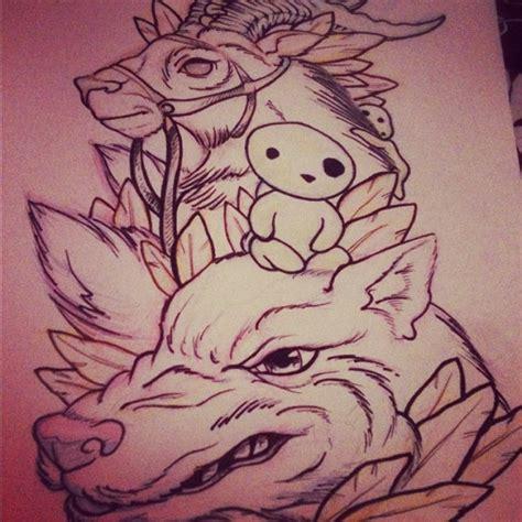 princess mononoke tattoo 151 best hayao miyazaki images on