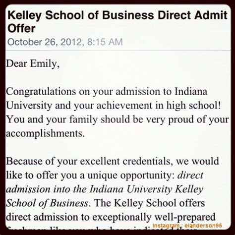 Indiana Acceptance Letter 11 awesome college acceptance letters shared in instagram