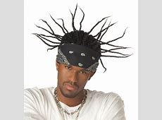 Gangsta Braids Corn Rows Coolio Rapper Wig w/ Bandana | eBay Box Braids With Bandana