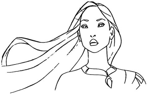 princess pocahontas coloring pages coloring home