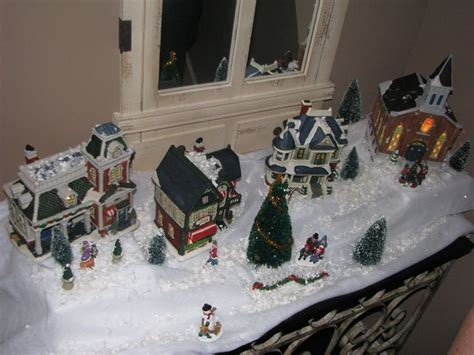 how to set up a christmas village centerpiece