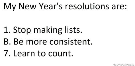 my new year s resolutions thefunnyplace